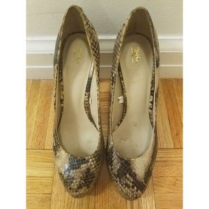 "Mossimo Snakeskin Pattern 4"" High Heels"
